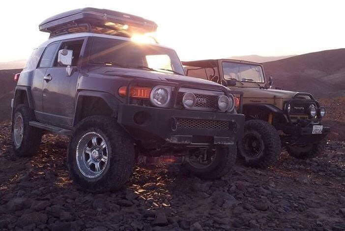 Premium FJ Cruiser Setup with a Bigfoot Roof Top Tent in Tow