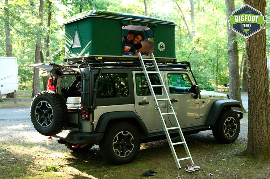& Used Hard Shell Jeep Roof Top Tent Black