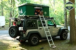 Used Hard Shell Jeep Roof Top Tent Blk/Grn