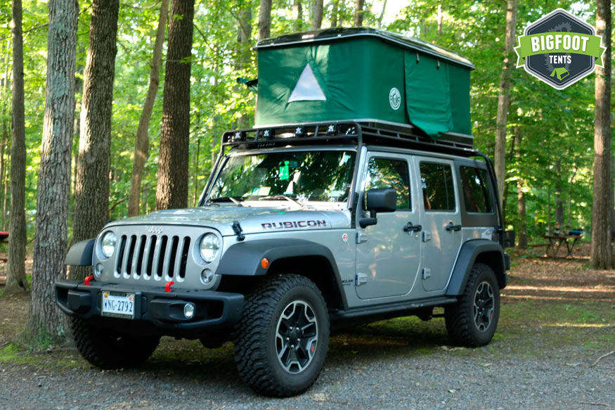 & Hard Shell Jeep Roof Top Tent Black
