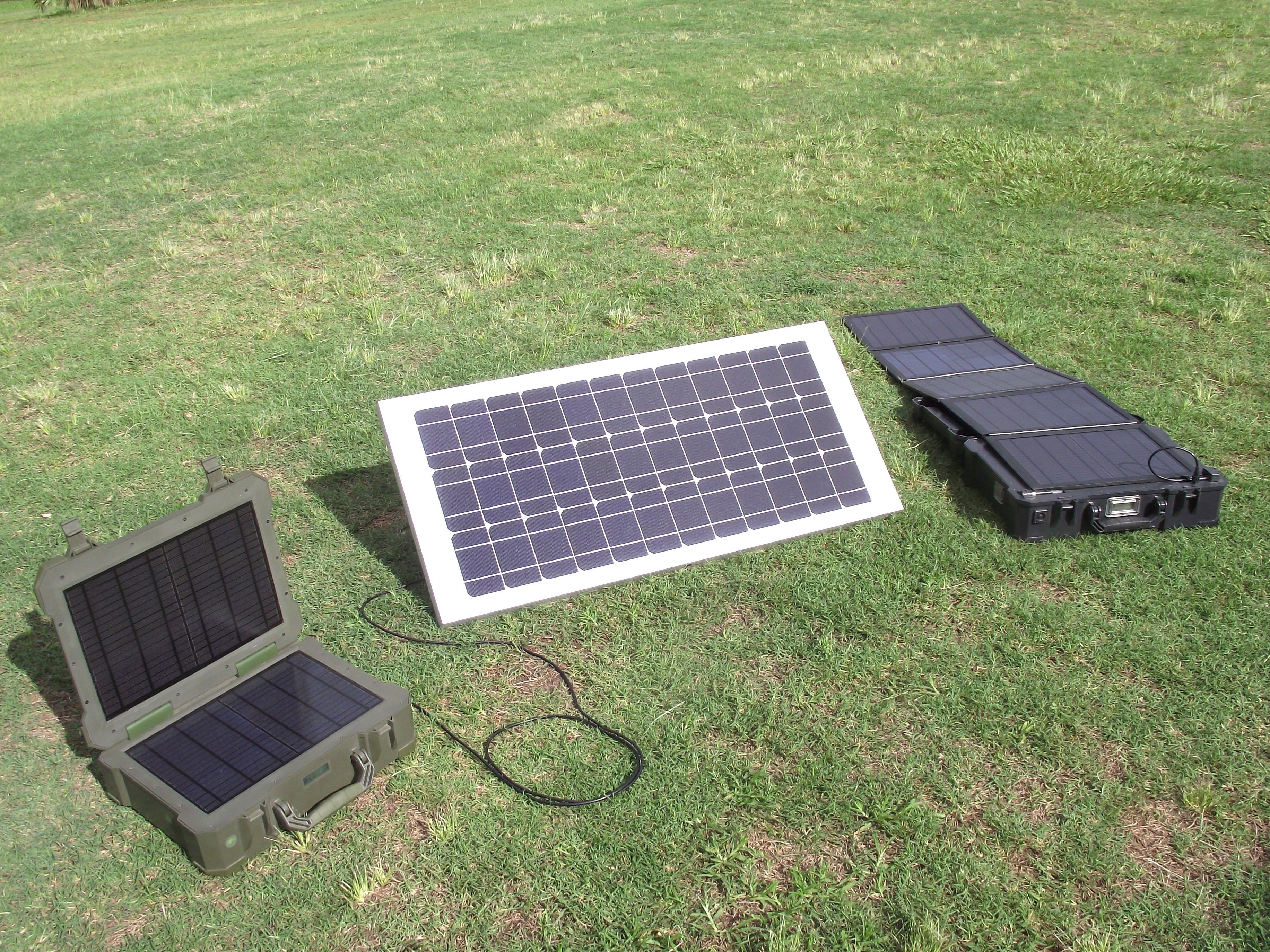 Lightning Solar Pack Power Bank Solar Generator 50 Watt