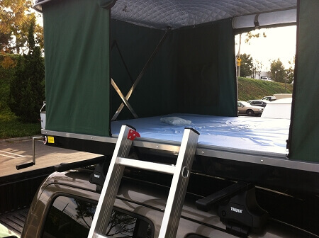 Hard Shell Tacoma Roof Top Tent Black