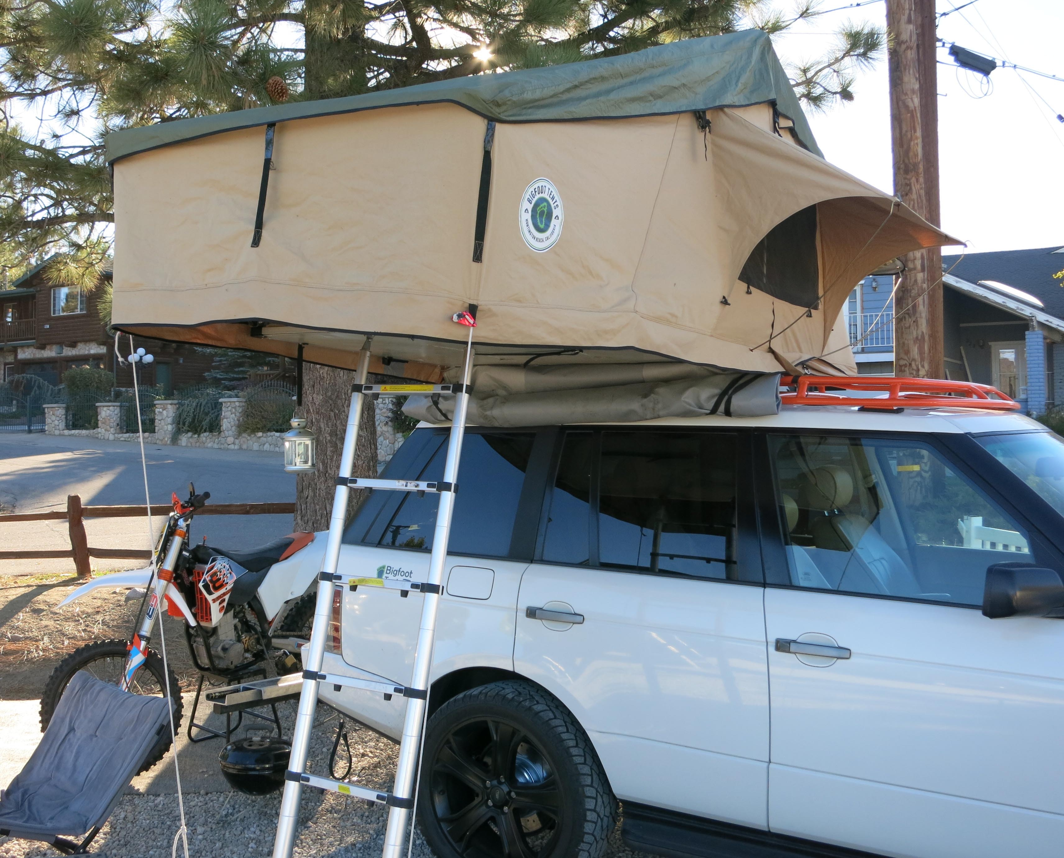 Large Roof Top Tent Bigfoot Quick Tent Extreme Freight Damaged