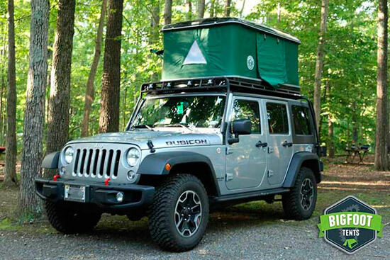 Jeep Hard Shell Roof Top Tent Explorer Series By Bigfoot