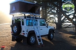 Hard Shell Land Rover Roof Top Tent White