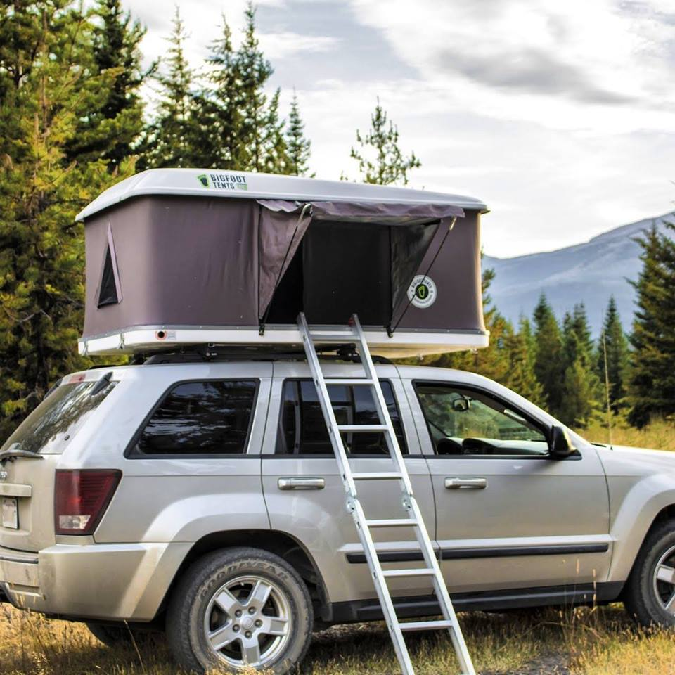 Hard Shell Roof Top Tent Camping 4WD Top Rack Extra Wide 140cm 210X140cm FALCON